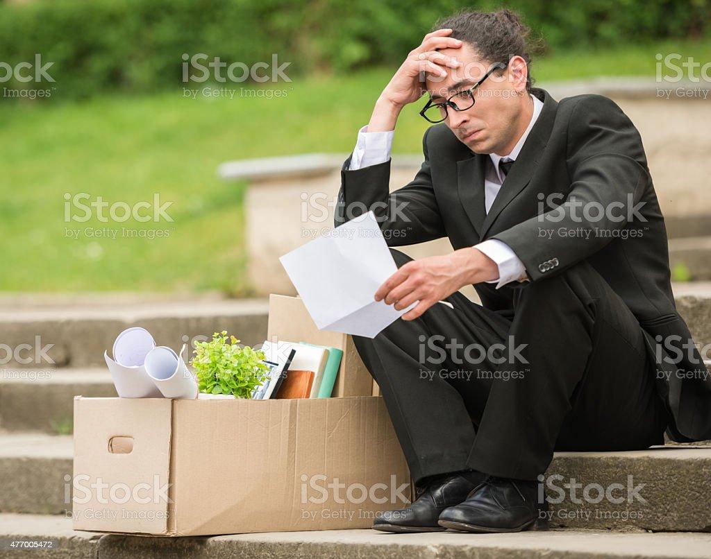 Unemployed man stock photo