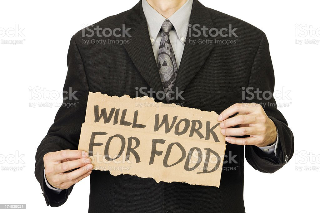 Unemployed Office Worker Man - Job Hunting stock photo