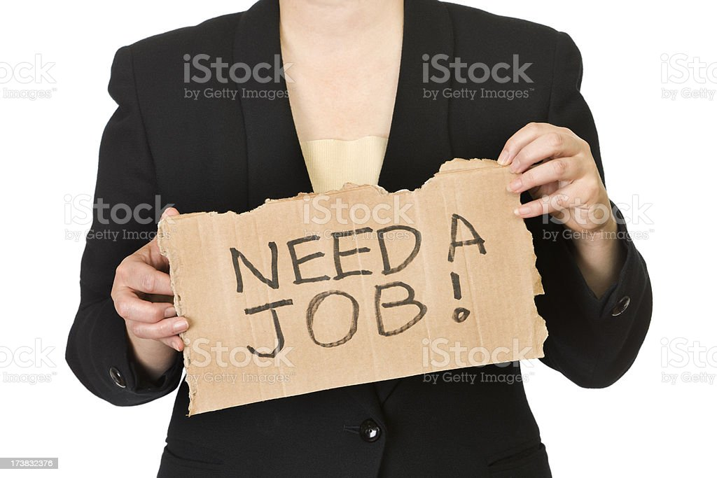Unemployed Office Worker Woman - Job Hunting royalty-free stock photo
