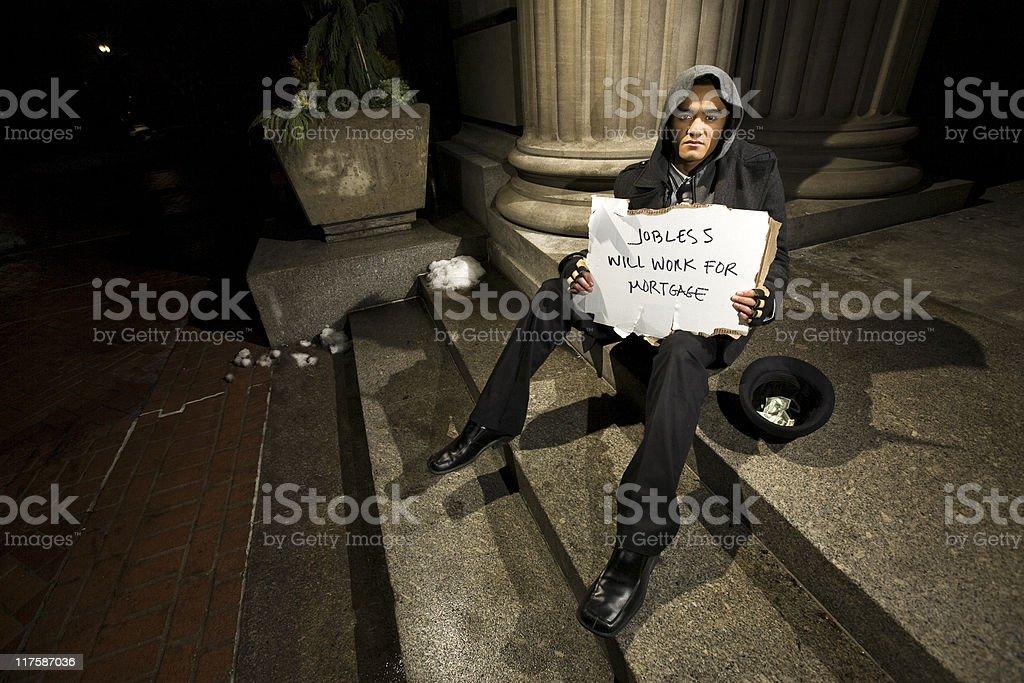 Unemployed royalty-free stock photo
