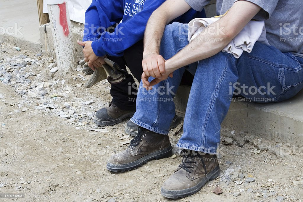 Unemployed workers stock photo