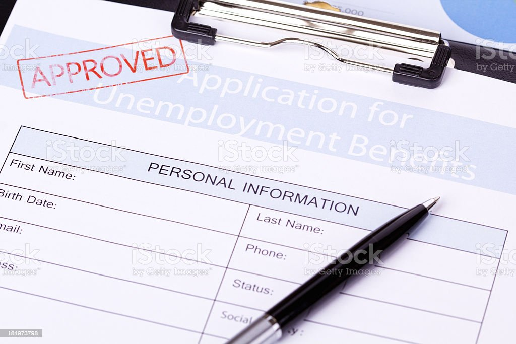 Unemployment Benefits Form royalty-free stock photo