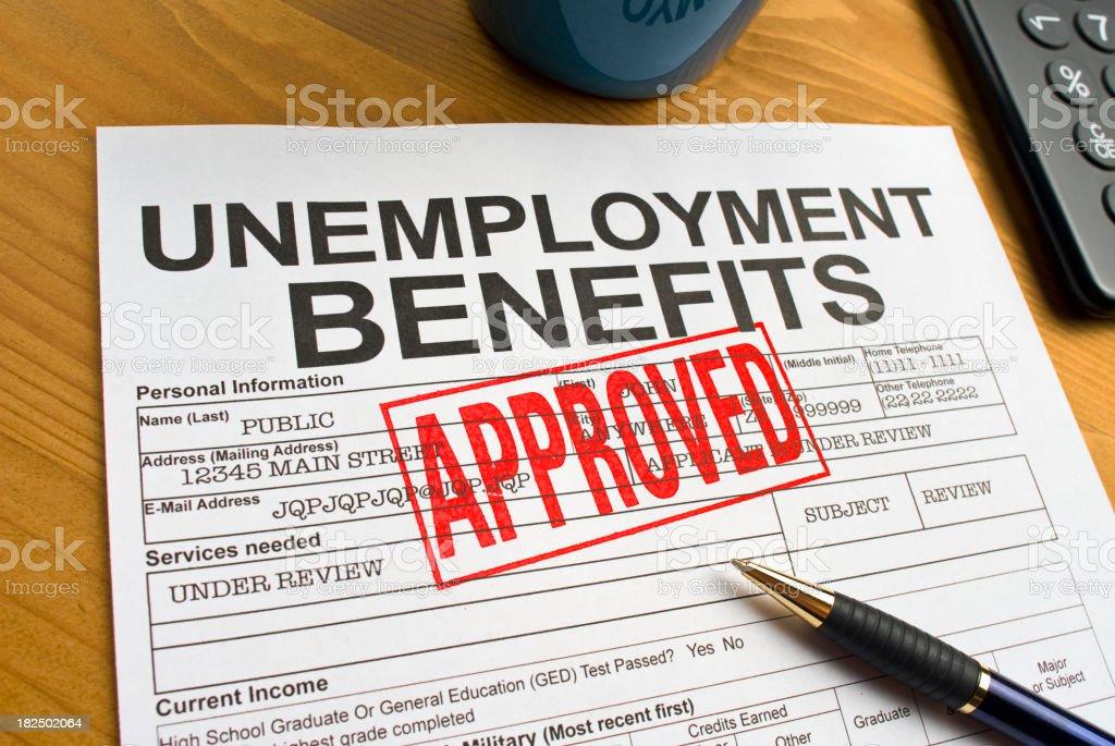Unemployment Benefits stock photo