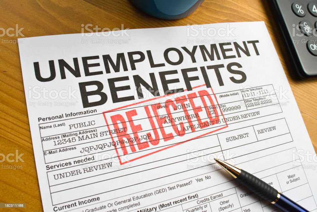 Unemployment benefits royalty-free stock photo