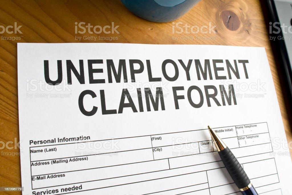 Unemployment Claim Form stock photo