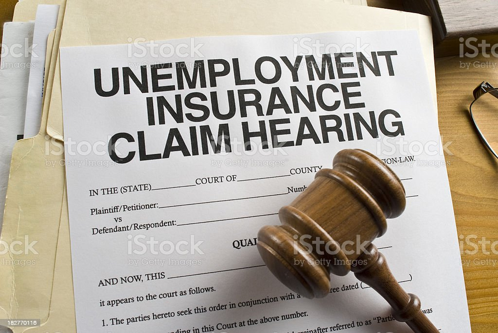 Unemployment Claim Hearing stock photo