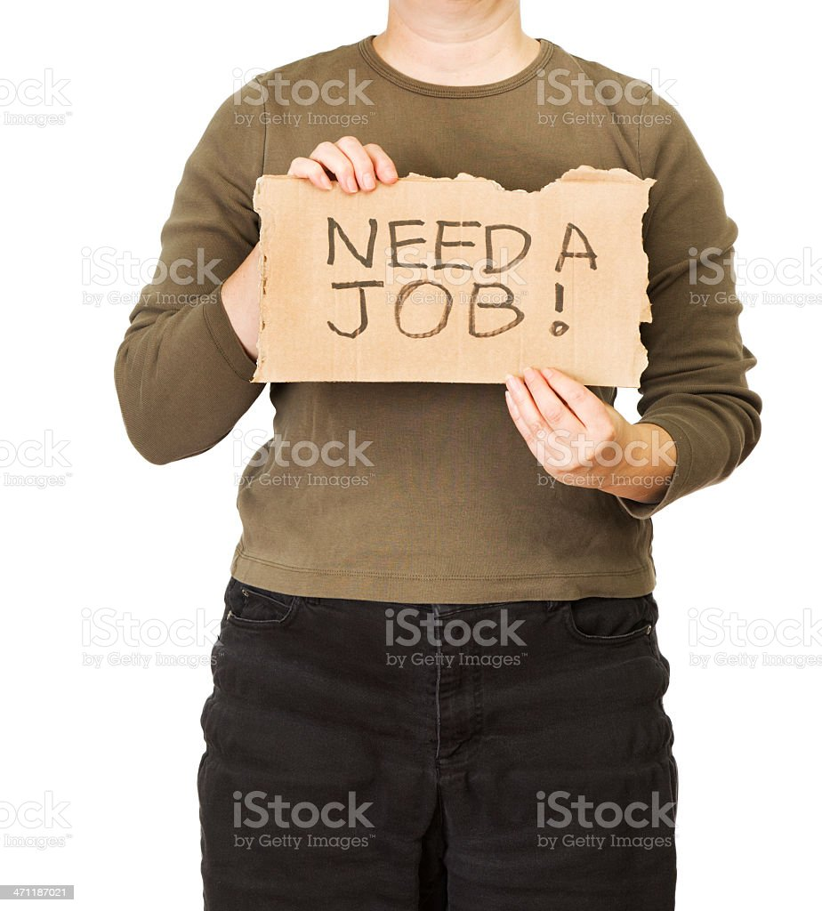 Unemployment - Desperate Job Search royalty-free stock photo