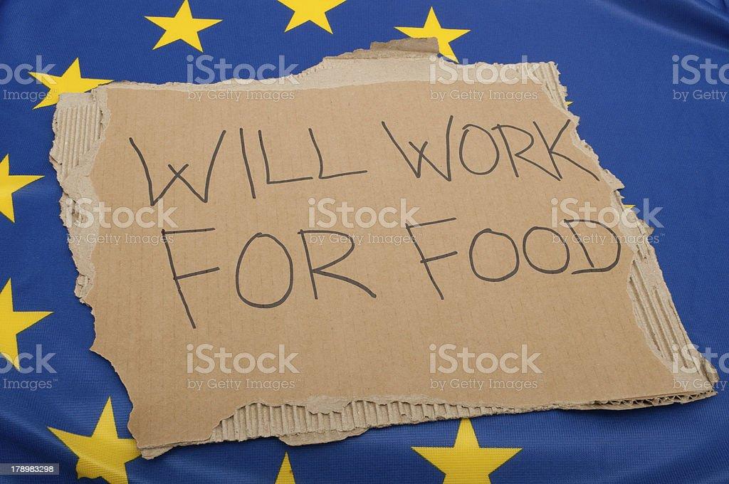 Unemployment in European Union royalty-free stock photo