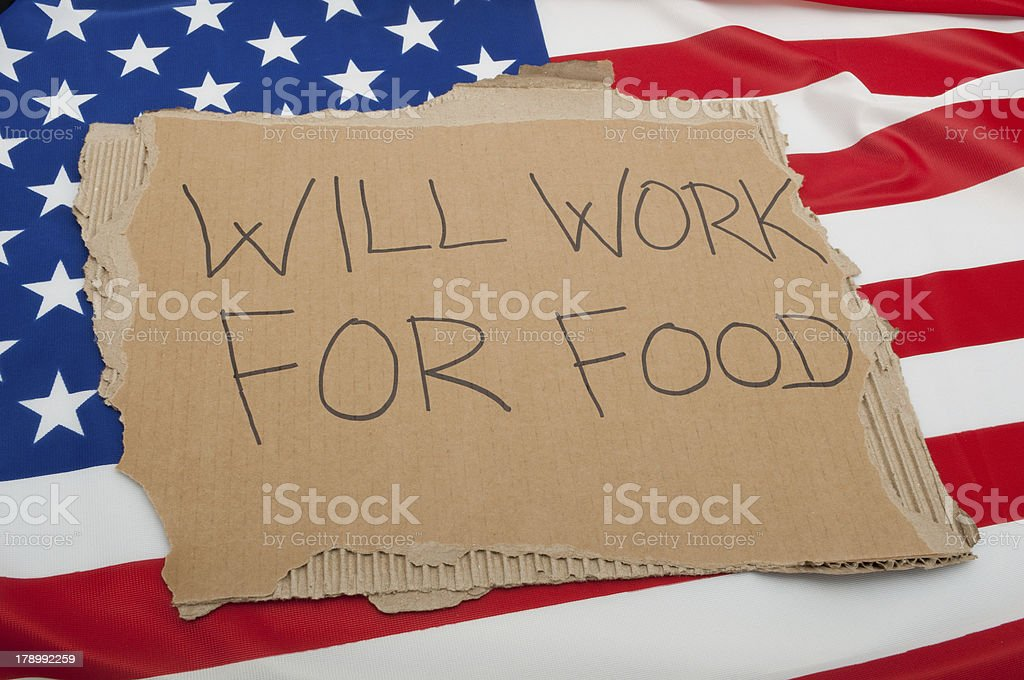 Unemployment in USA royalty-free stock photo