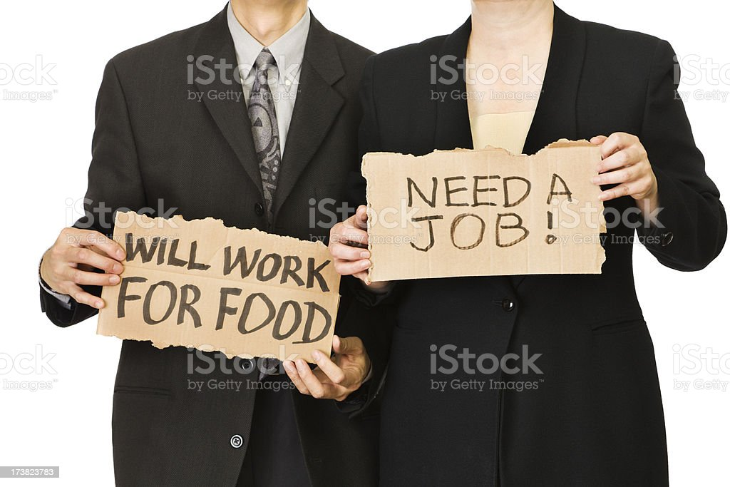 Unemployment - Job Hunting royalty-free stock photo