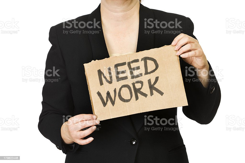 Unemployment - Look for Job royalty-free stock photo