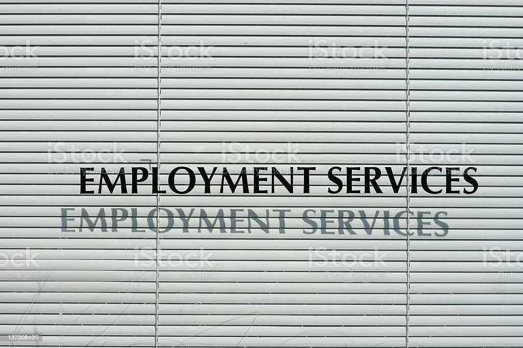 Unemployment Office Window - United States stock photo