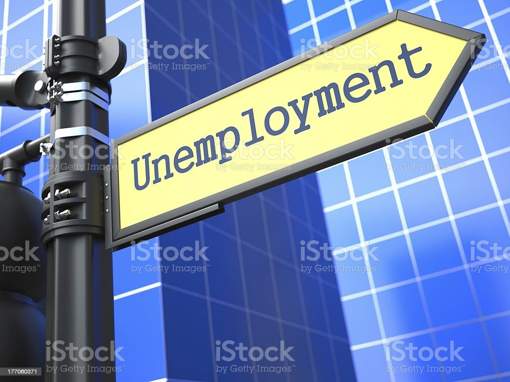 Unemployment Roadsign. Business Concept. royalty-free stock photo