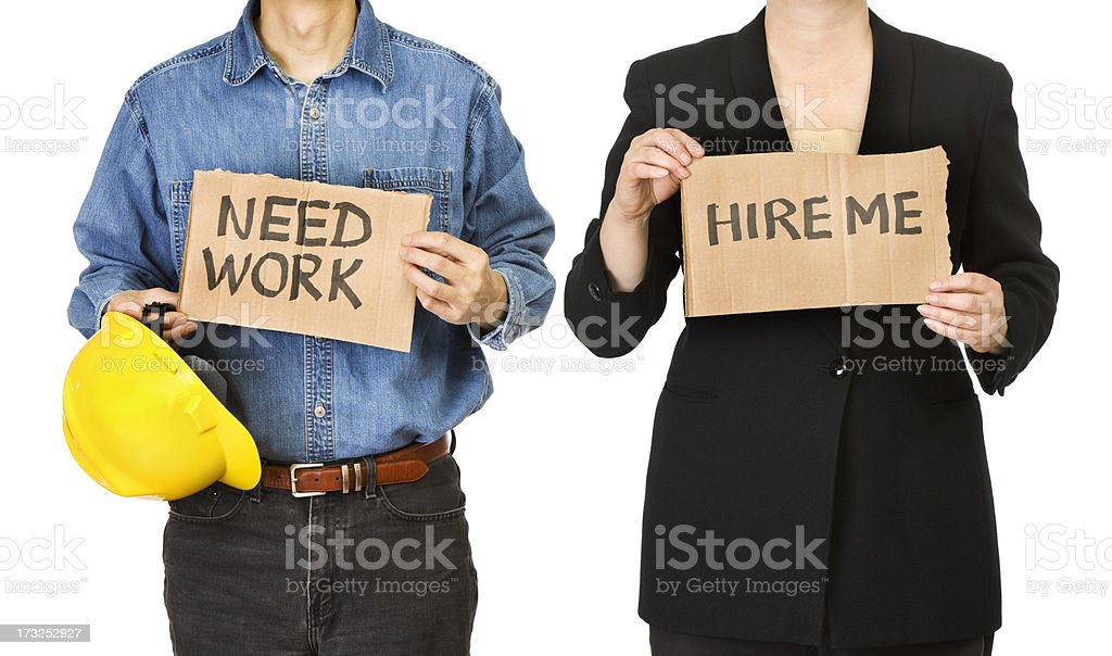 Unemployment - Workers Job Searching stock photo