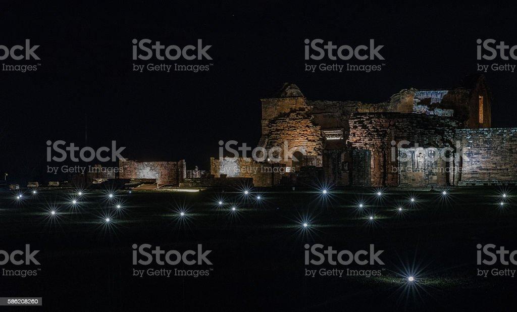 Unesco  Trinidad Jesuita ruins in Encarnacion, Paraguay stock photo