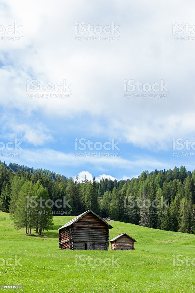 Unesco World Heritage site Dolomiti, Alta Badia, Italy stock photo
