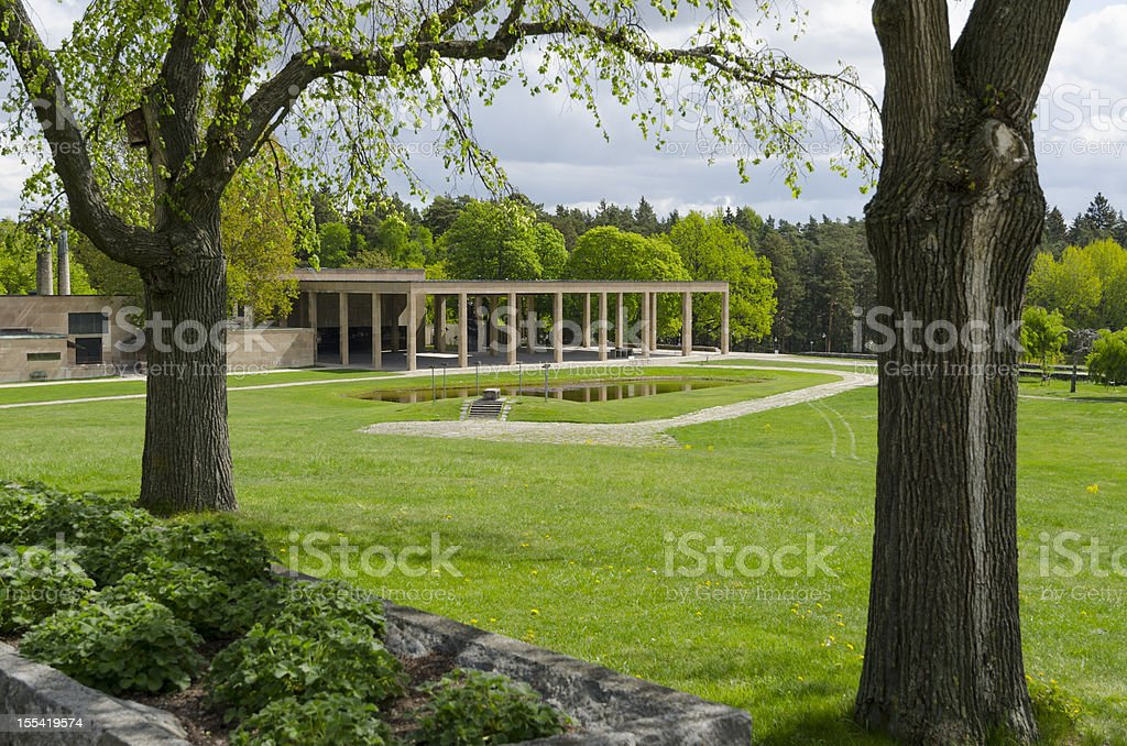 Unesco World Heritage, Woodland cemetery stock photo