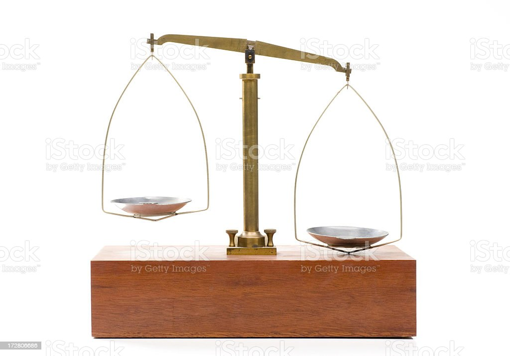 Uneven balance scale royalty-free stock photo