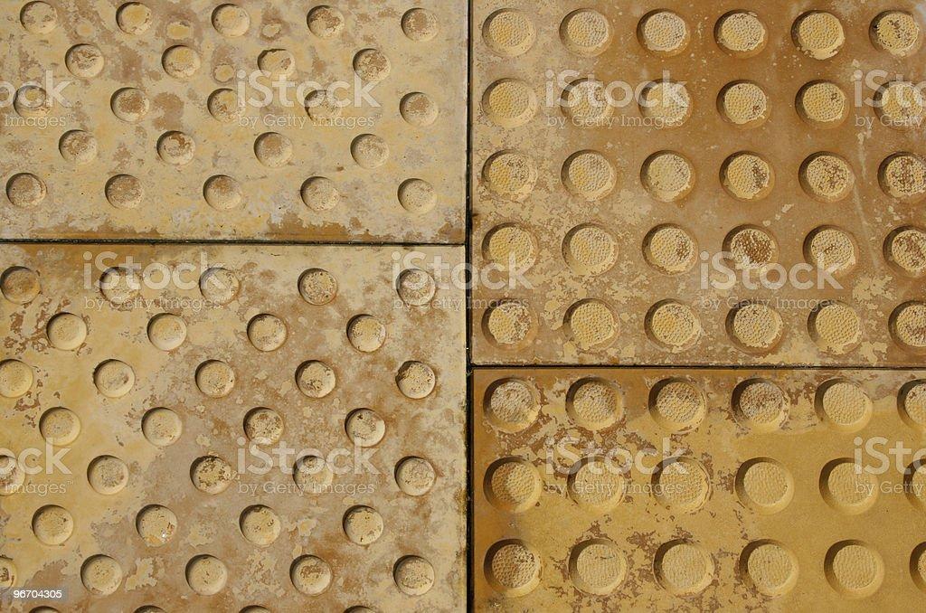 Uneven Nonslip Pavement Tiles royalty-free stock photo