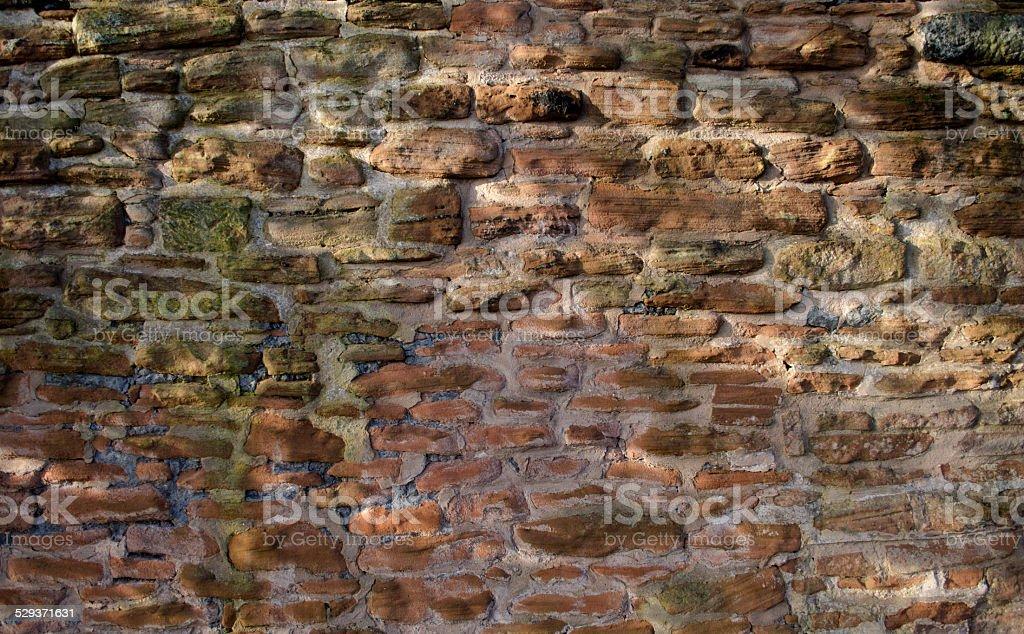 Uneven Sandstone Wall stock photo