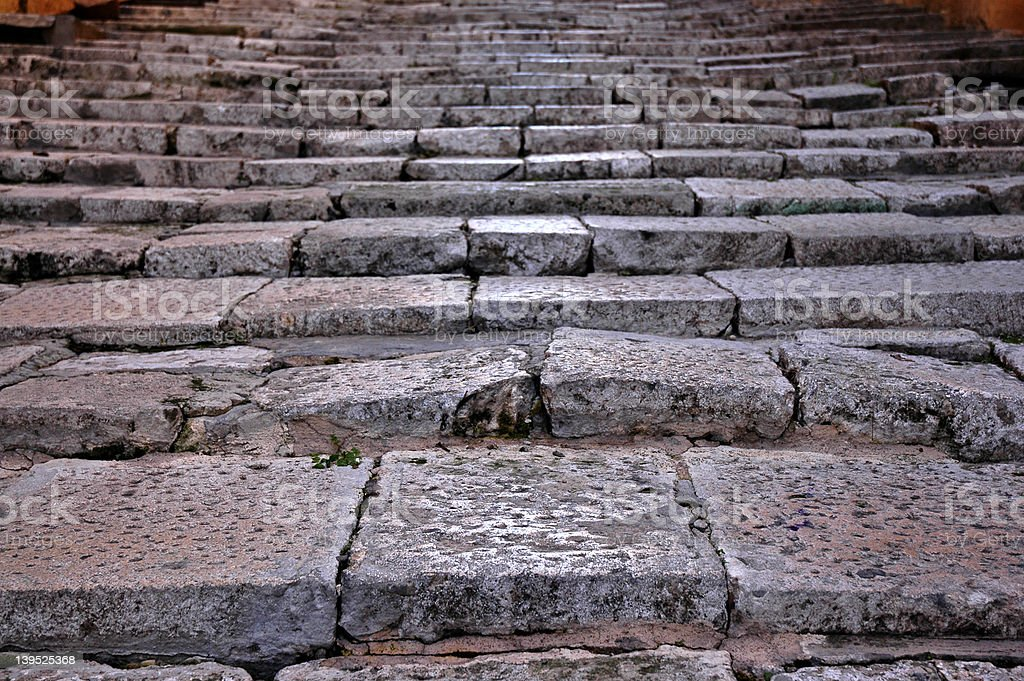 Uneven stone steps royalty-free stock photo