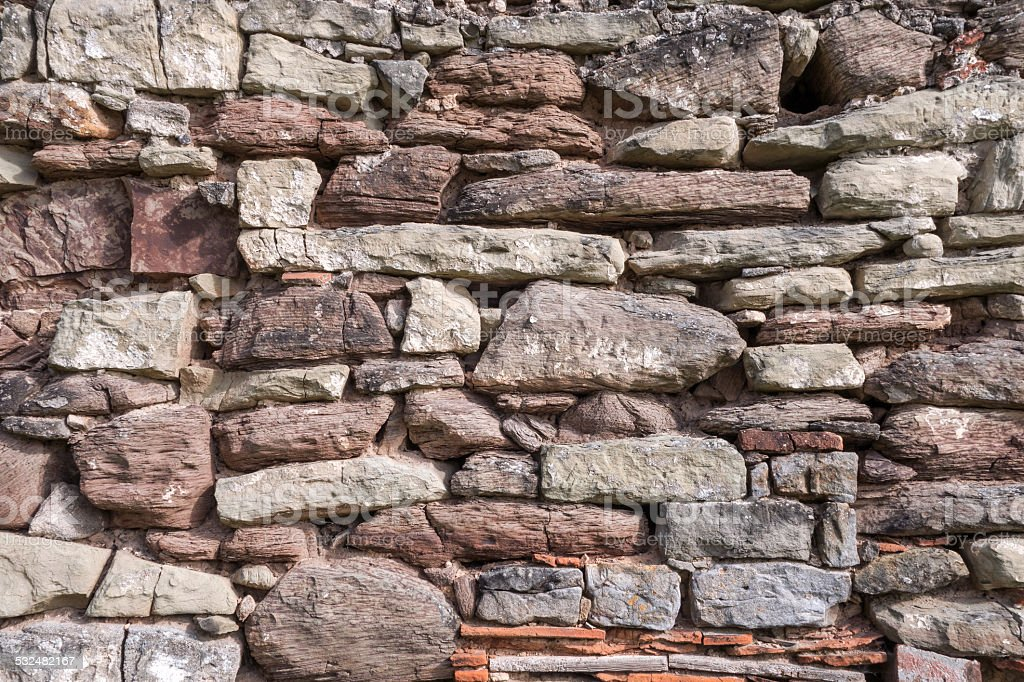 Uneven stone wall royalty-free stock photo
