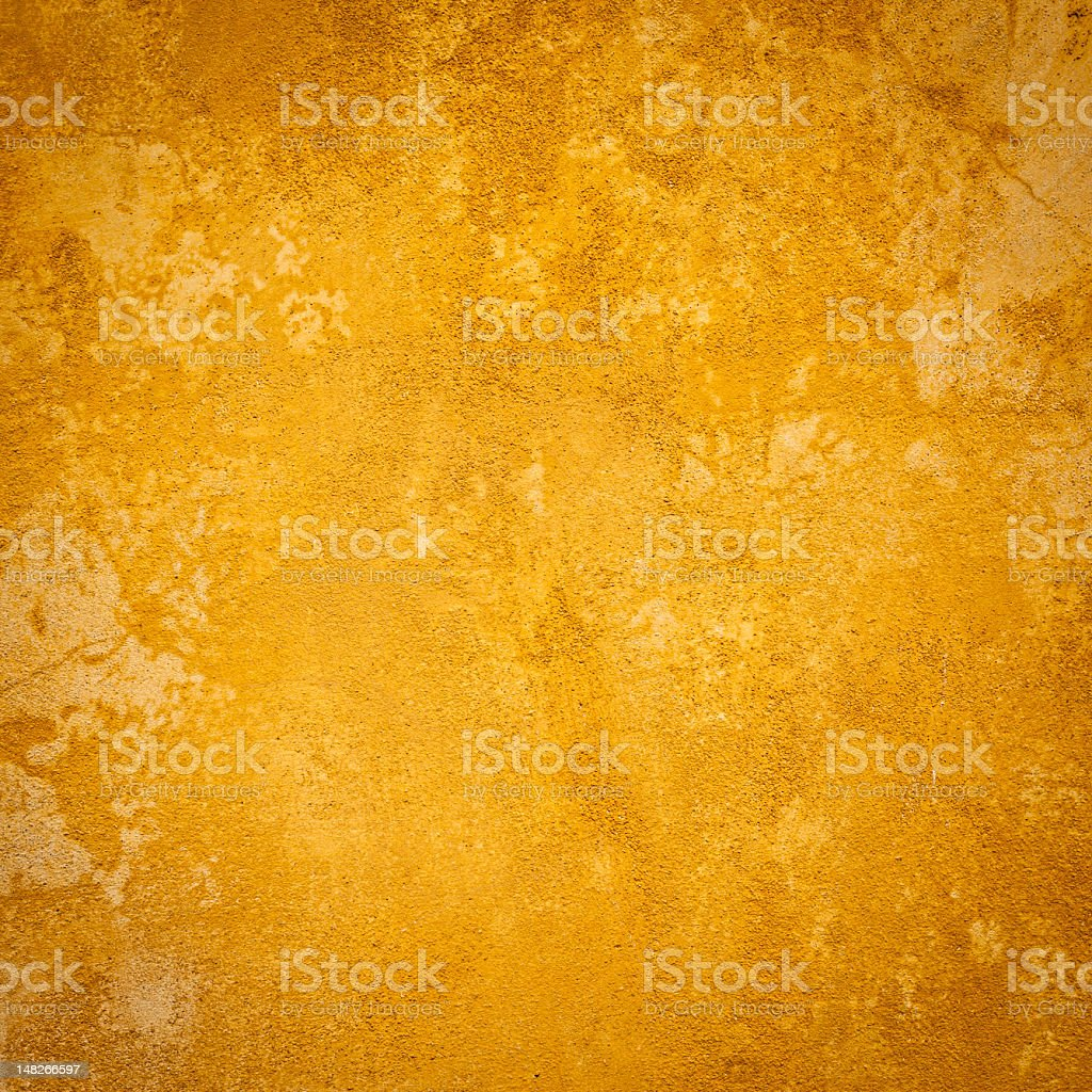 Uneven Yellow Wall Texture, Square royalty-free stock photo
