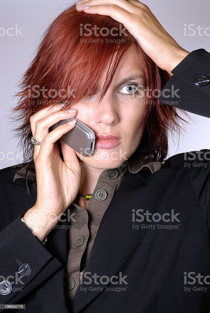 unexpected news IV royalty-free stock photo