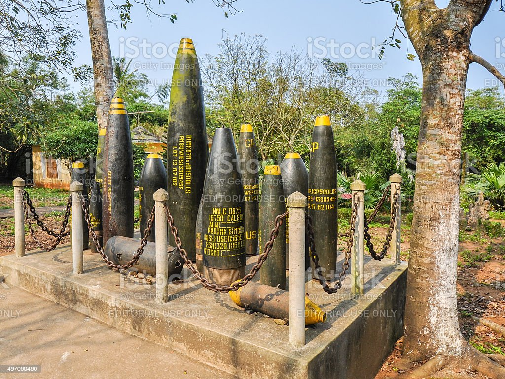 Unexpended US Bombs, Quang Tri, Vietnam stock photo