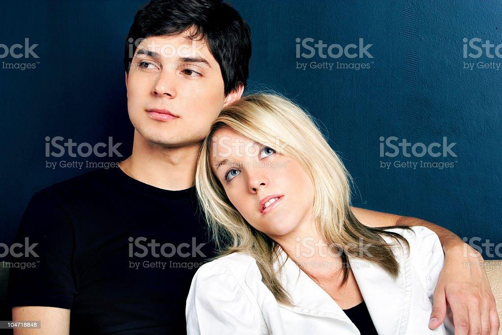 Unfaithful couple stock photo
