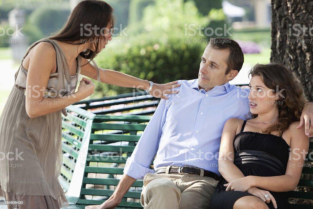 Unfaithful Husband stock photo