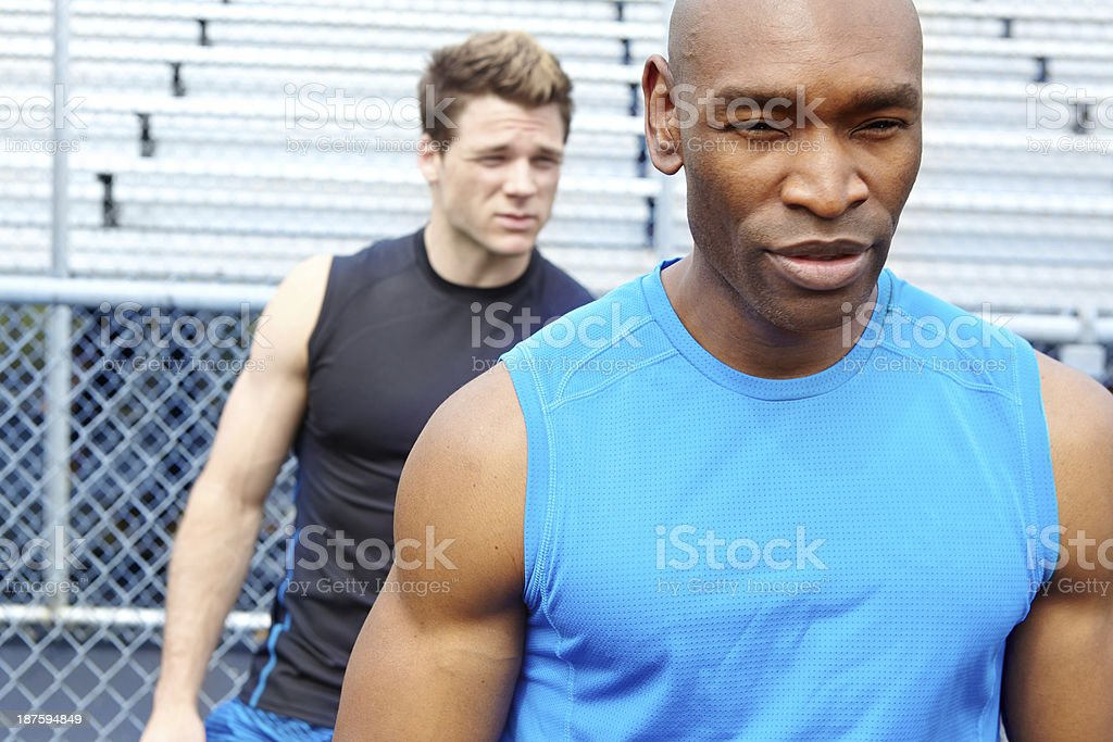 Unfazed by his opponents stock photo