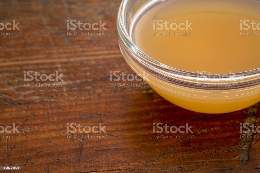 unfiltered, raw apple cider vinegar stock photo