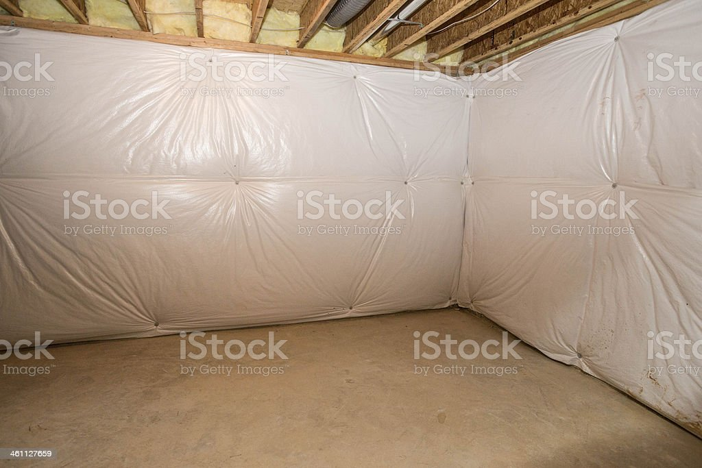 Unfinished Basement in New Home stock photo