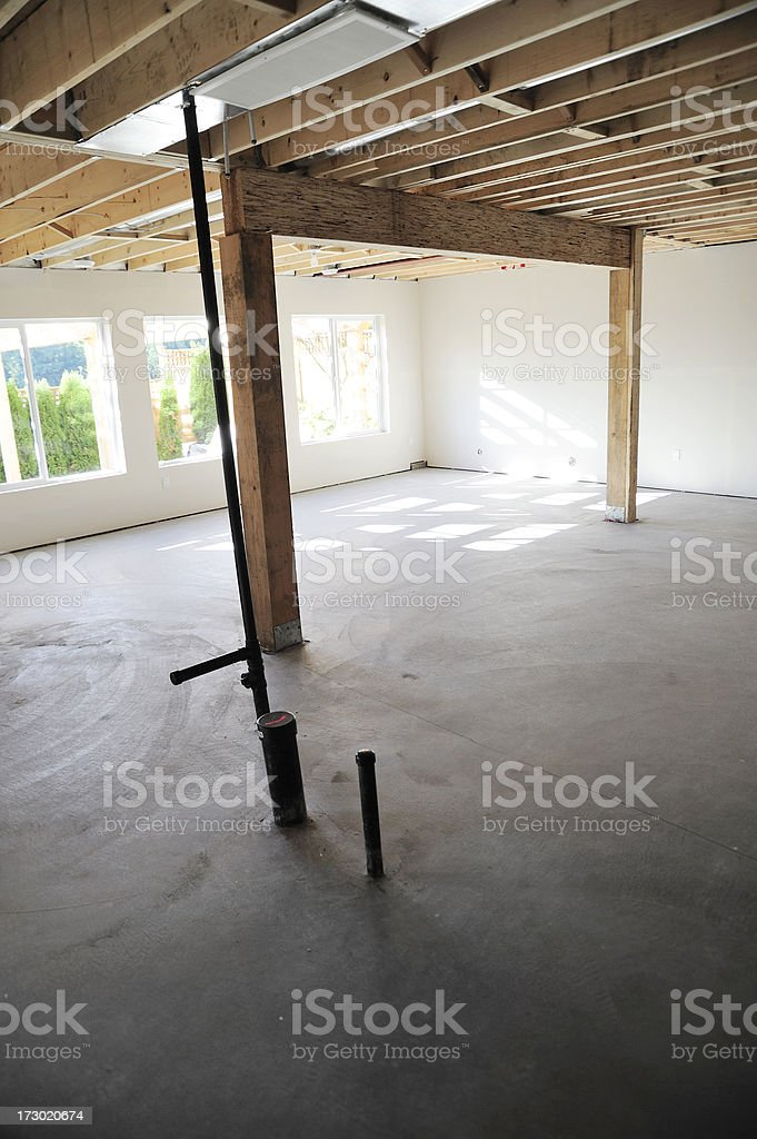 Unfinished Basement royalty-free stock photo