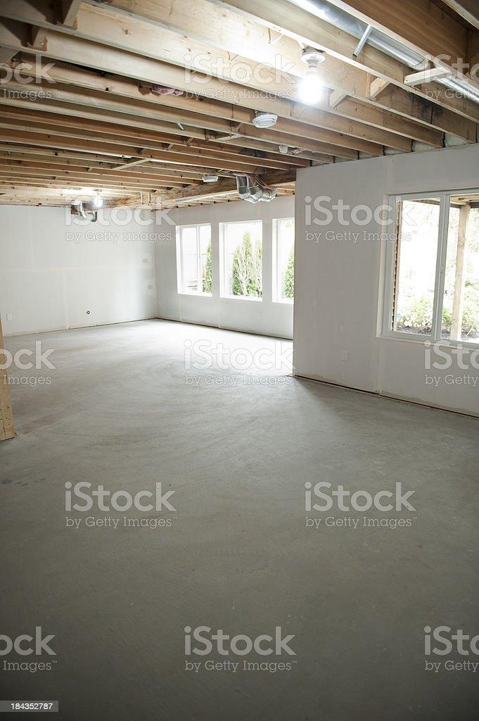 Unfinished Basement stock photo