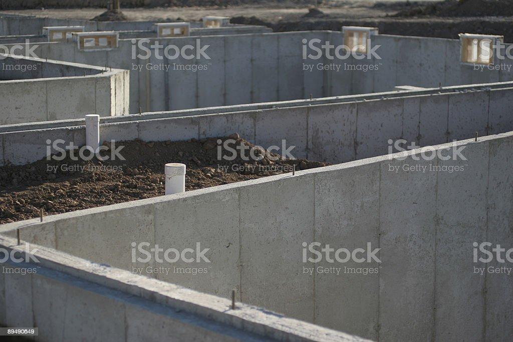 unfinished basements stock photo