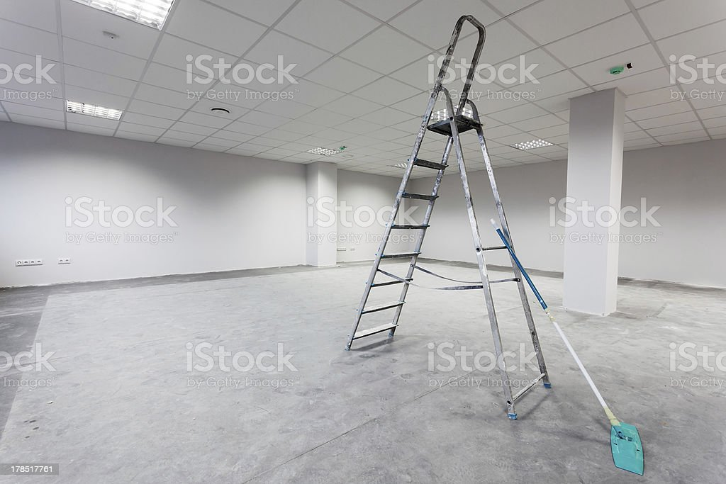 Unfinished building interior royalty-free stock photo