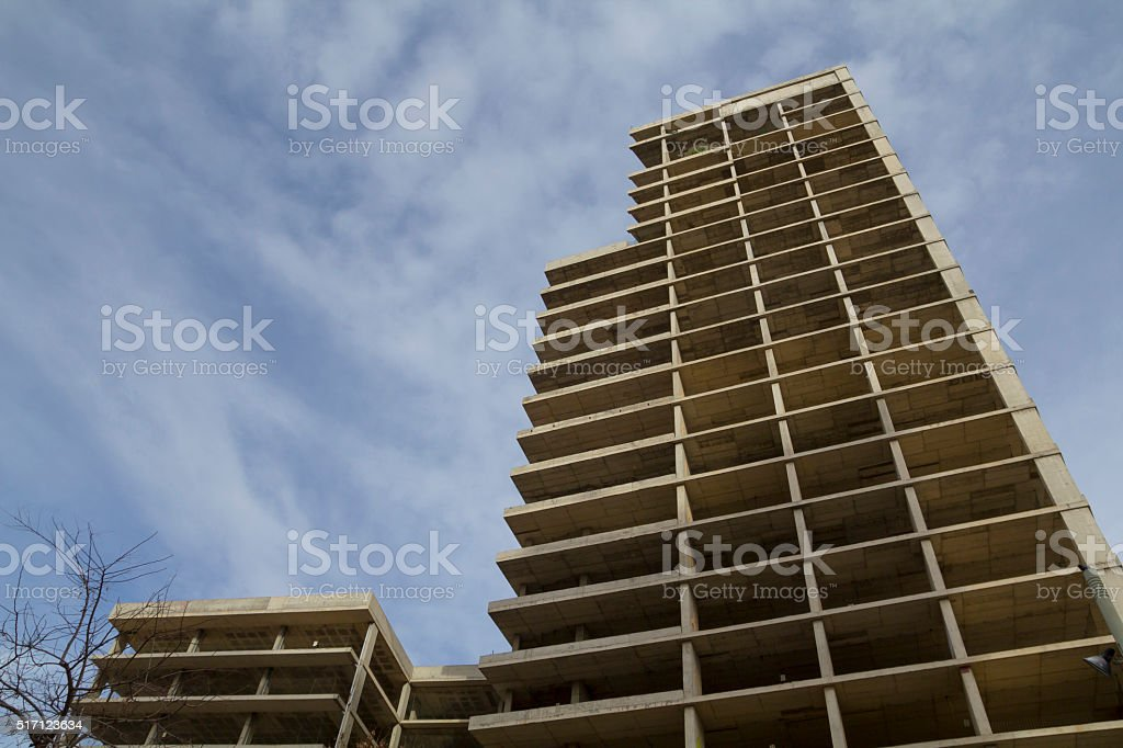 Unfinished building stock photo