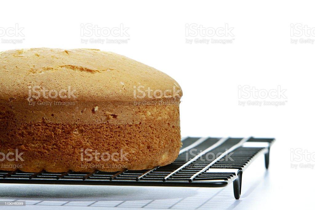 unfinished cake stock photo