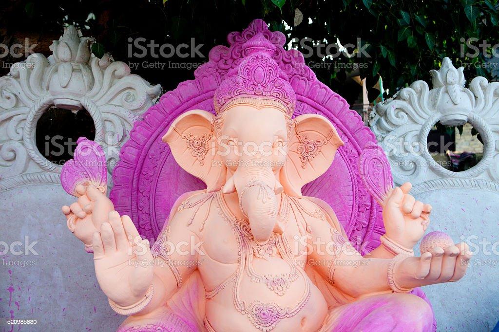 Unfinished Ganesha Statues, New Delhi stock photo