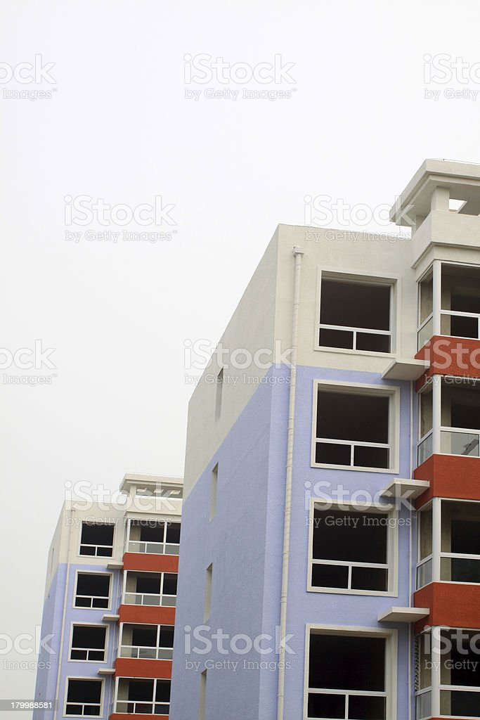 unfinished high-level residential royalty-free stock photo