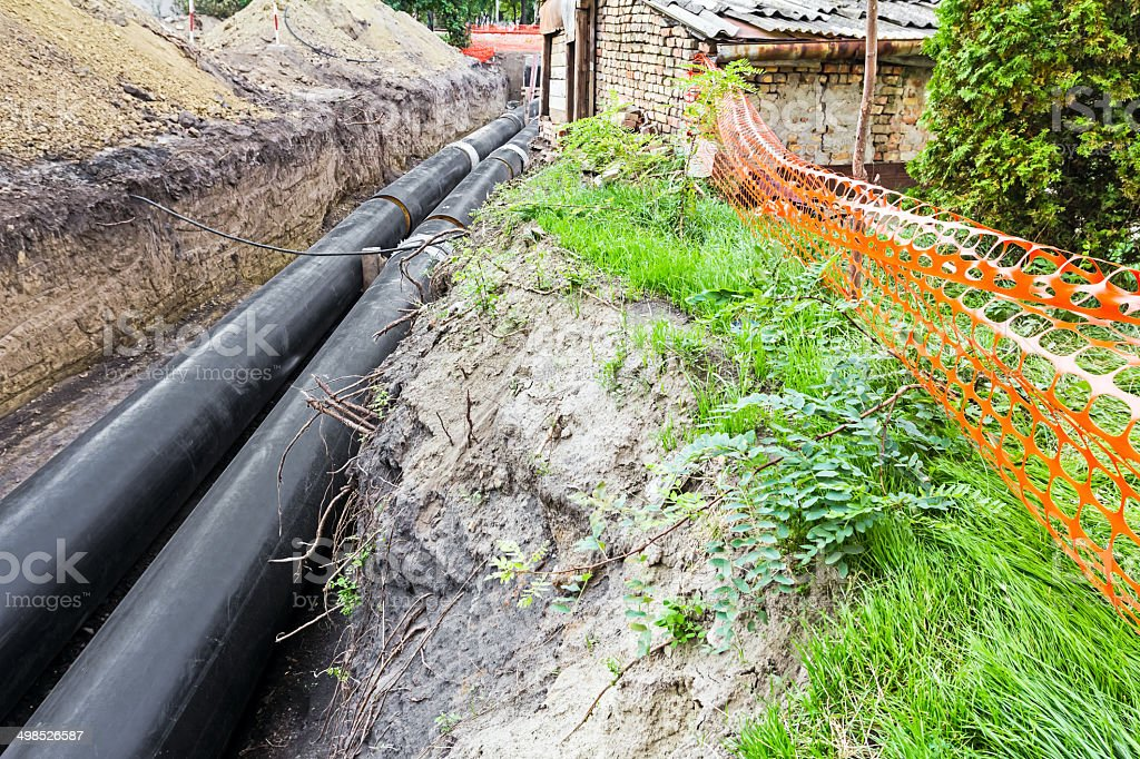 Unfinished pipeline stock photo