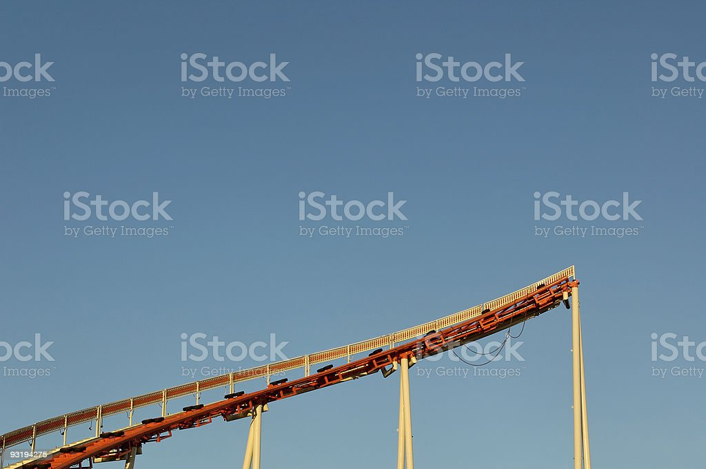 Unfinished Roller Coaster Tracks stock photo