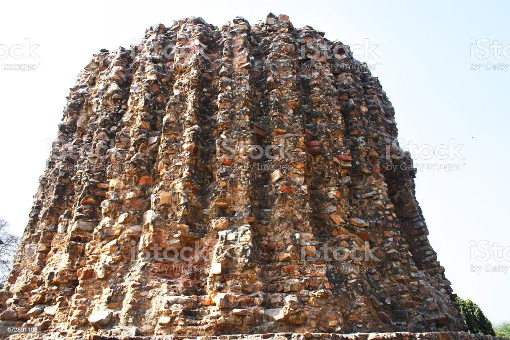 Unfinished Stone Minaret (Qutub Minar, India) stock photo
