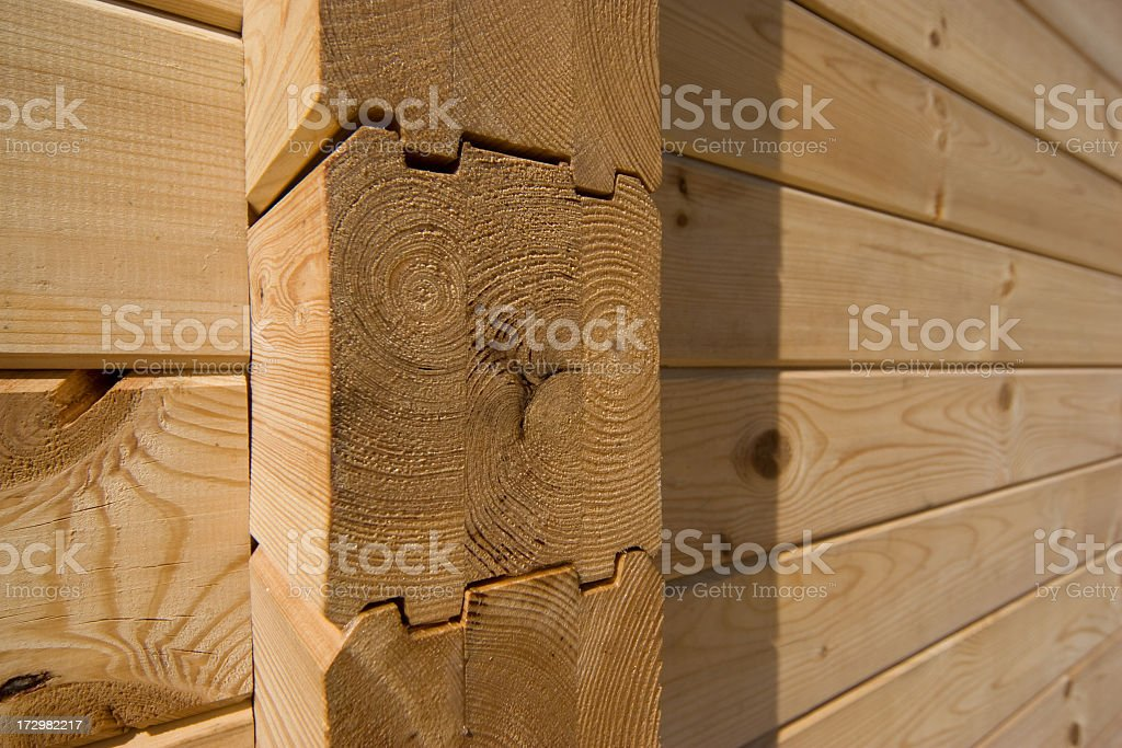 Unfinished wooden house royalty-free stock photo