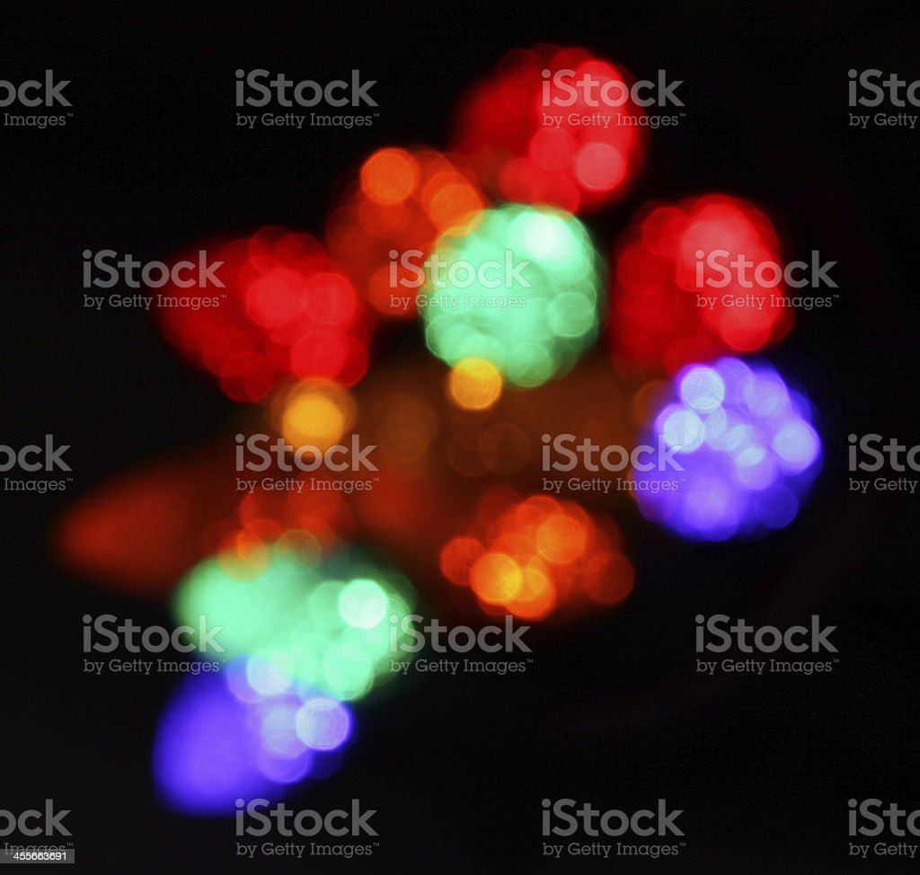 Unfocused Multi-colored Christmas Lights royalty-free stock photo