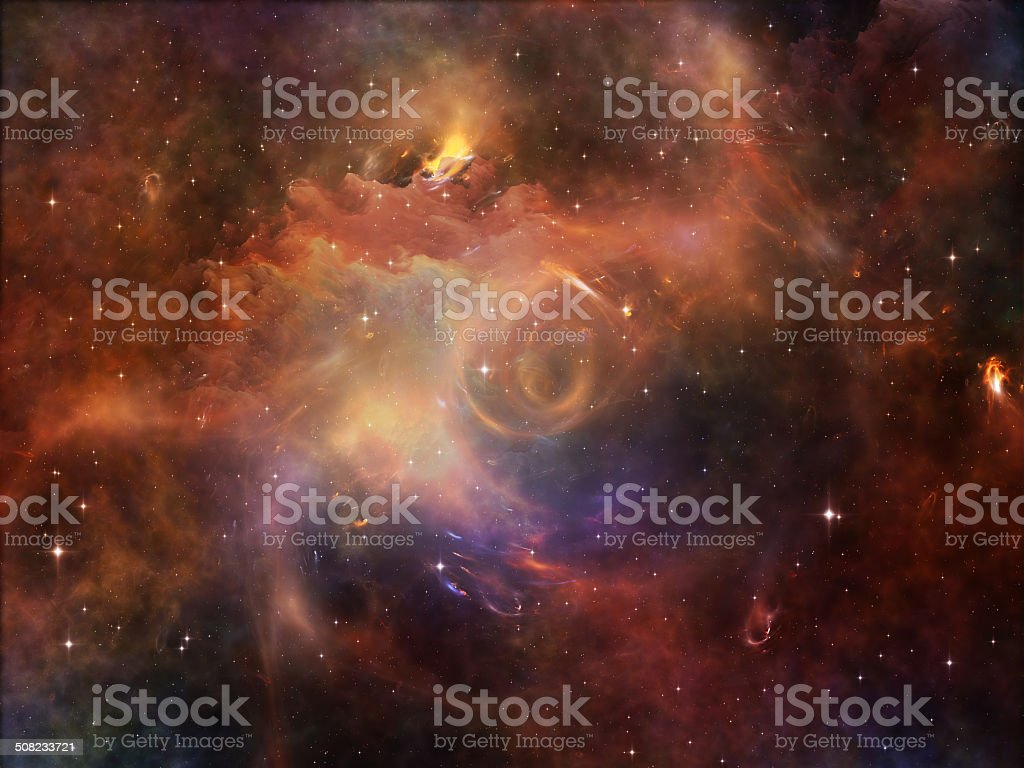 Unfolding of Space stock photo