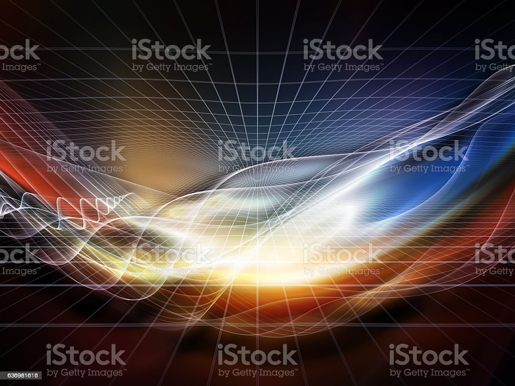 Unfolding of the Virtual World stock photo