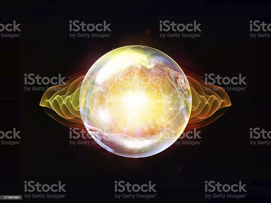 Unfolding of Wave Particle royalty-free stock photo